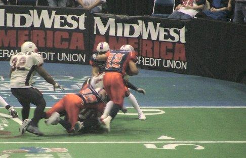Rocky Harvey scoring FW's second touchdown