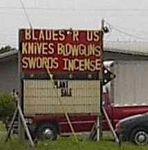Blades R Us: Knives Swords Blowguns Incense