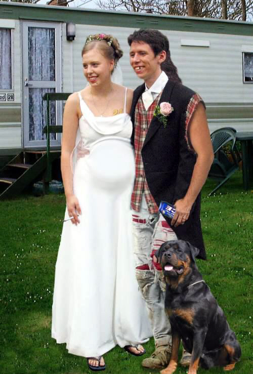 Not an actual picture of Elisa Harp's wedding